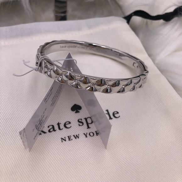 dc0f7b0a976b0 ♠️ Kate spade quilted heavy metal bangle bracelet NWT